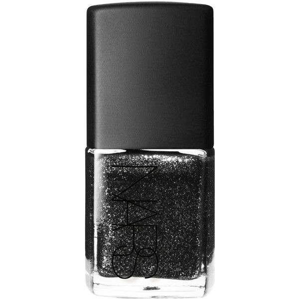 Nars Nail Polish in Night Breed Glitter Black ($22) ❤ liked on Polyvore featuring beauty products, nail care, nail polish, nail, filler and nars cosmetics