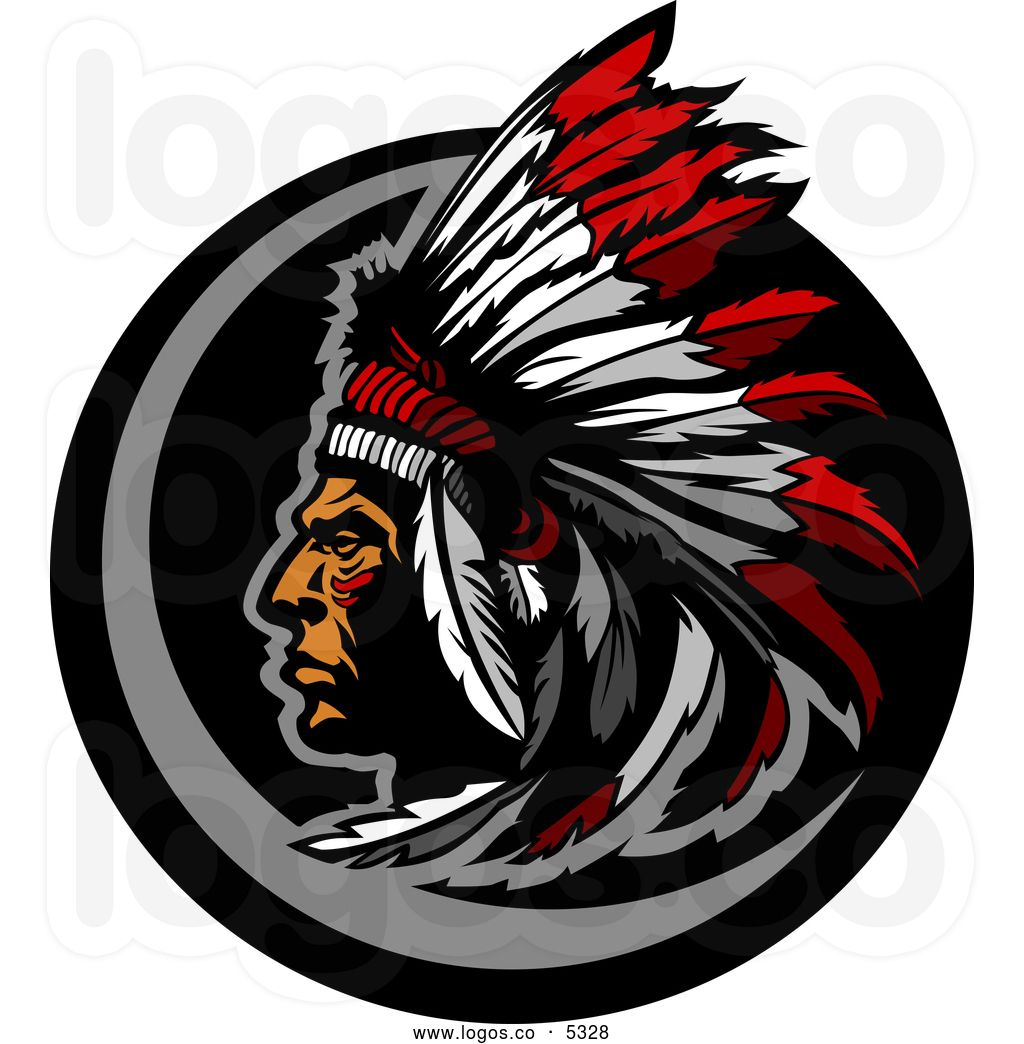 royalty free vector of a logo of a native american indian indian chief logo download indian chief logo design