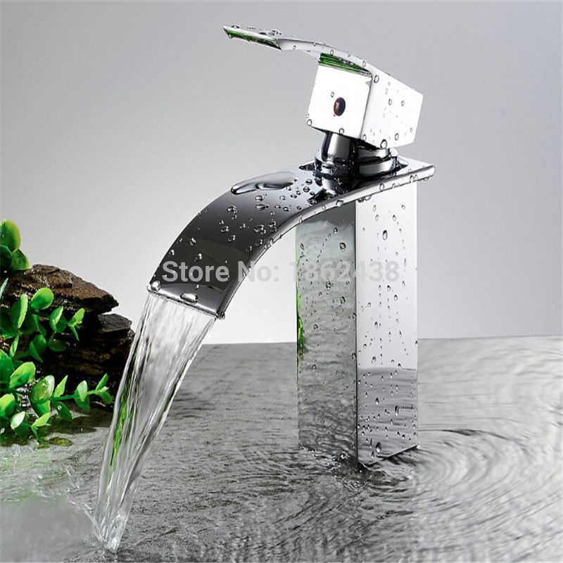 Brand New Wholesale And Retail Deck Mount Waterfall Bathroom Faucet - Wholesale bathroom fixtures