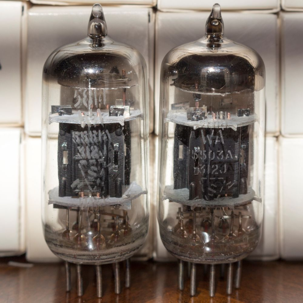1960 S Rca Conn Matched Balanced Quad 12au7 A Ecc82 Clear Top Best Us Tubes Rca Vacuum Tube Absinthe Fountain Tube