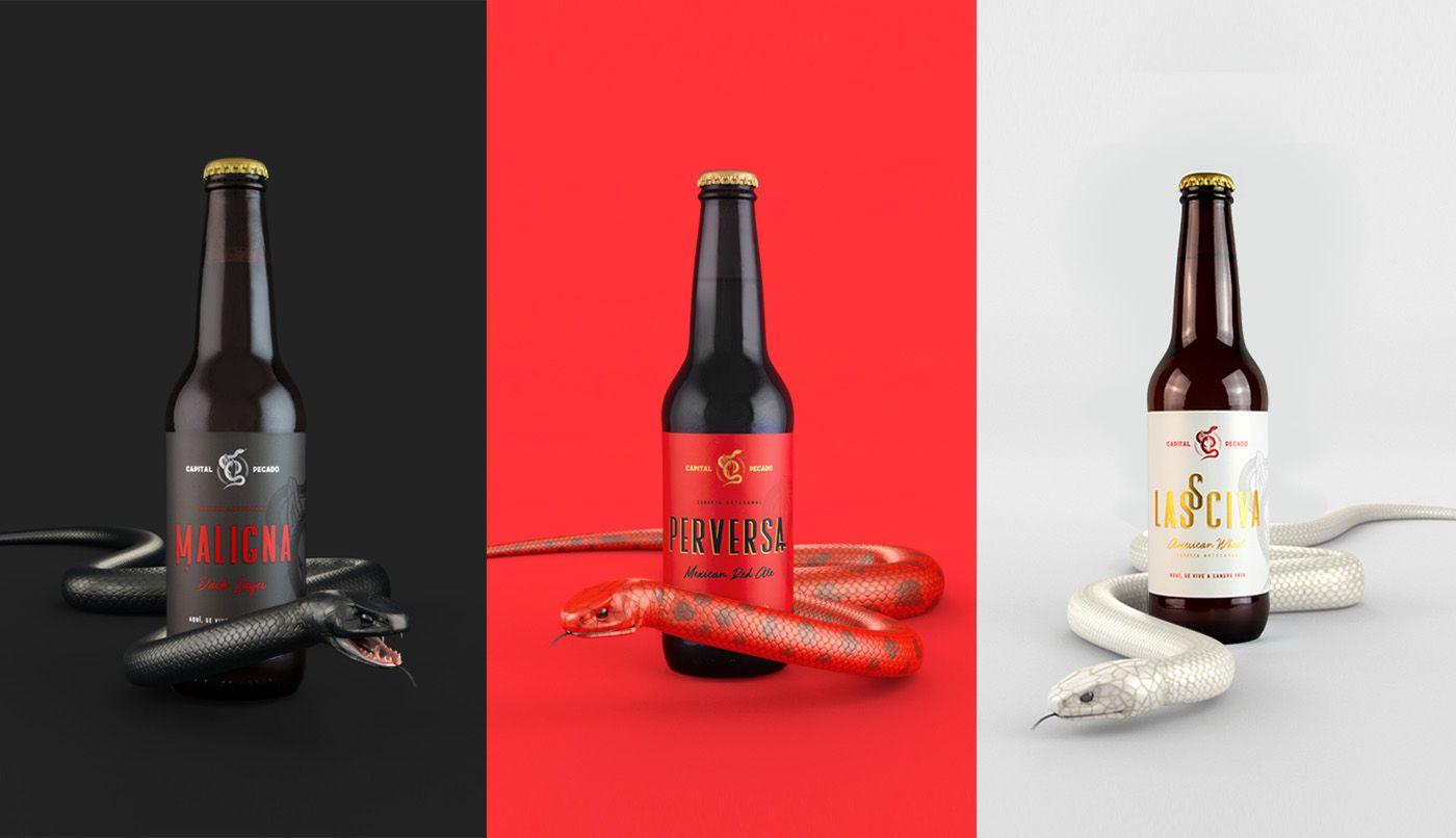 Capital Pecado Cerveceria On Behance Capital