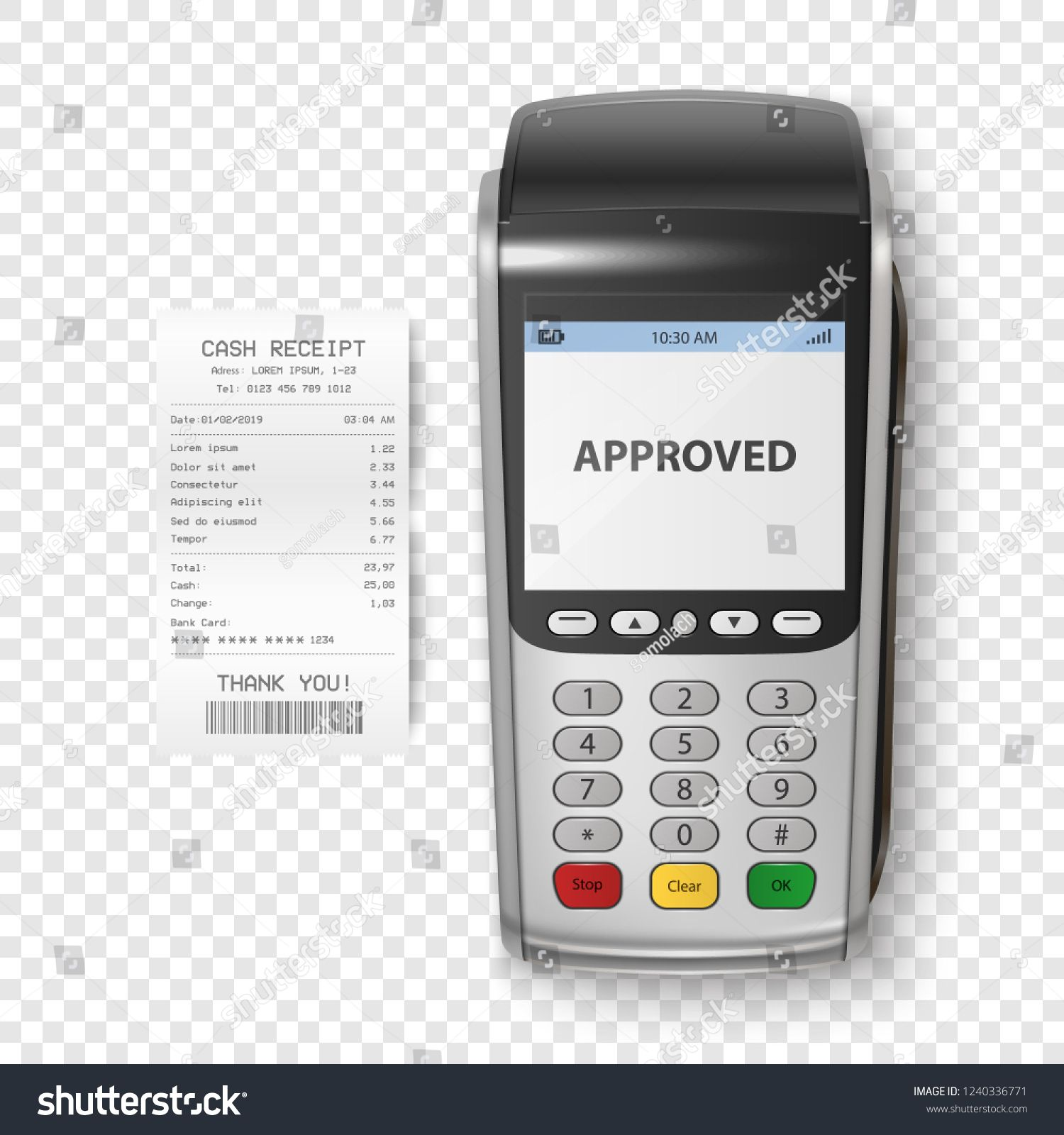 Vector Realistic Silver 3d Payment Machine Pos Terminal With Receipt Closeup Isolated Design Template O Creative Flyer Design Design Template Creative Flyers