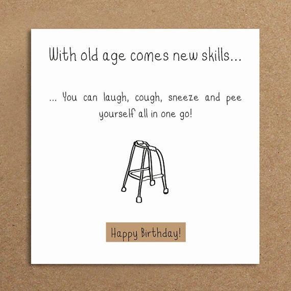 Handmade Funny Birthday Card Old Age Funny Card Female Male Rustic Birthday Greeting Funny Birthday Cards Birthday Card Sayings Birthday Cards For Men