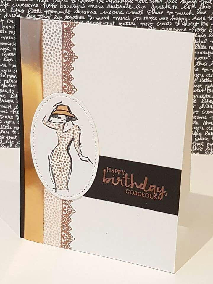 Stylish birthday card