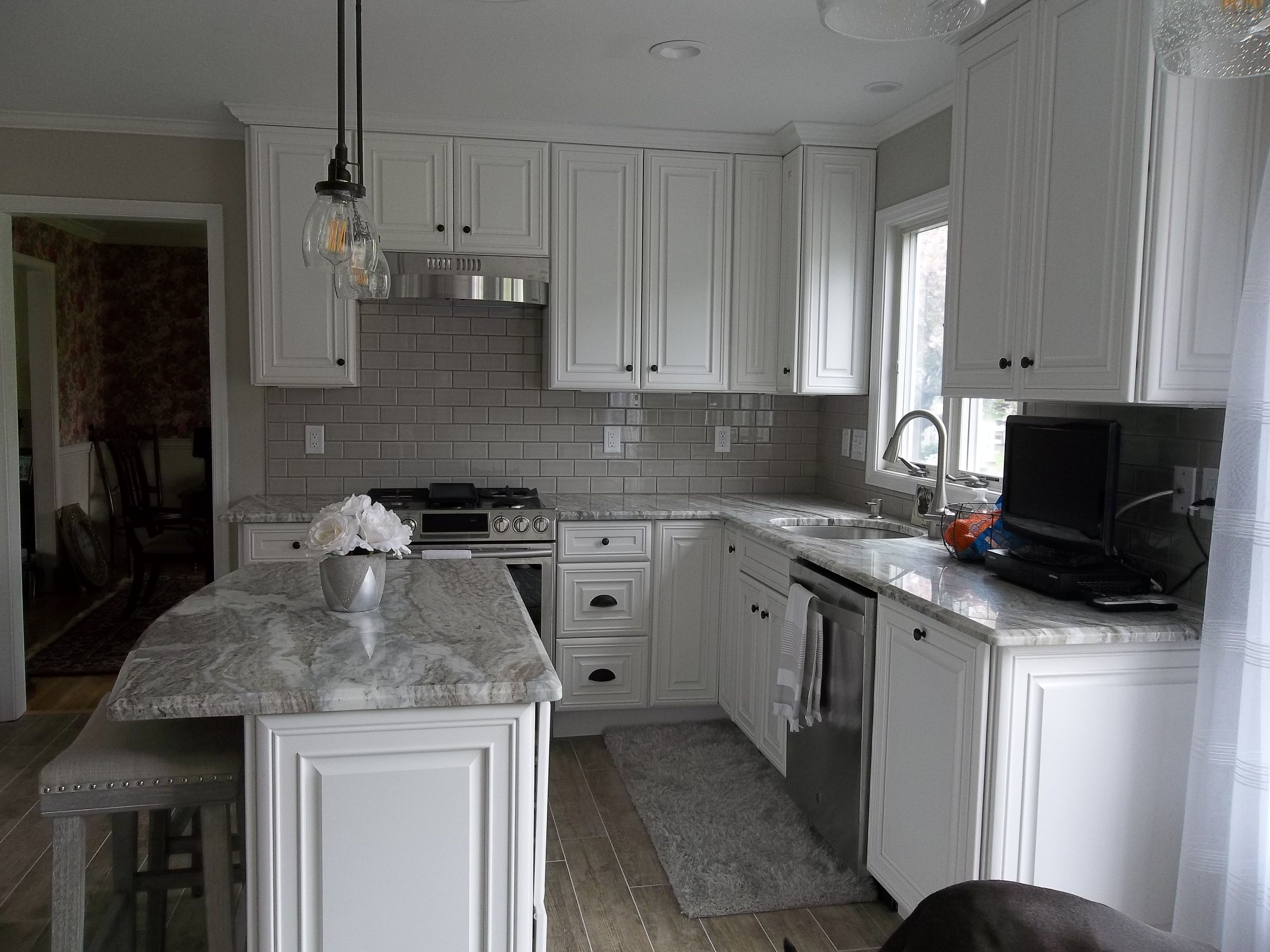 Painted White Traditional Raised Panel Kitchen #kitchen # ...