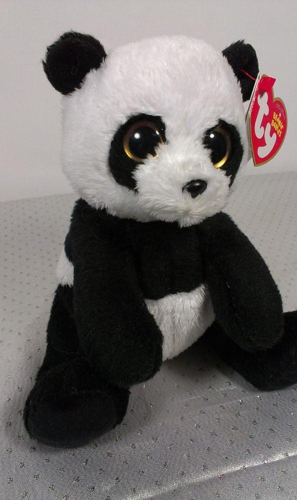 a7331b76a23 2011 Ty Beanie Baby Babies Panda Bear MING Stuffed Animal Plush Bean Bag  Teddy  Ty
