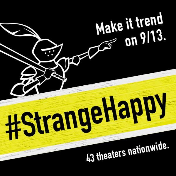 Get tickets at www.strangehappymovie.com Opens 9/13. #strangehappy