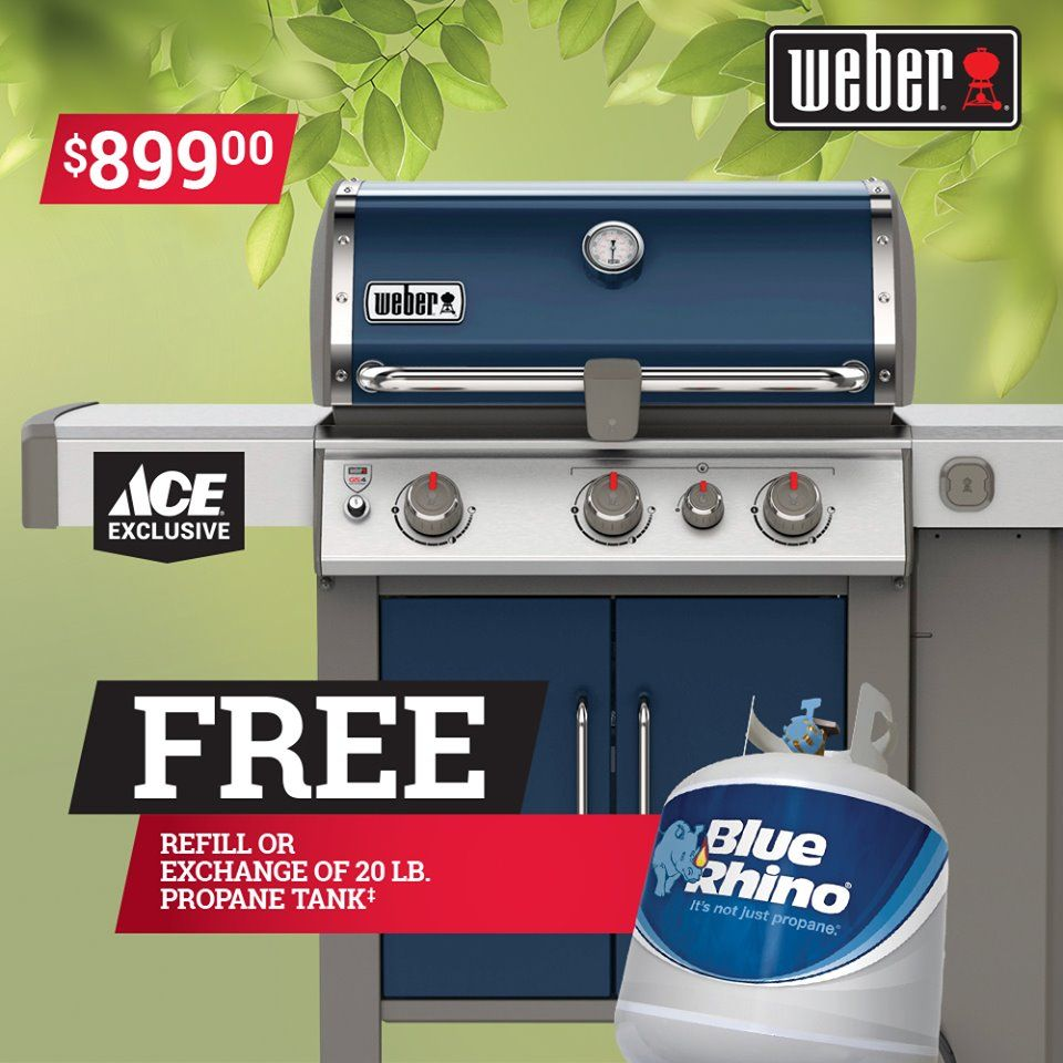 Gear up for grilling season and pick up any Weber gas