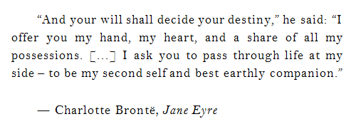 Jane Eyre And Mr Rochester Quotes Google Search Cuore
