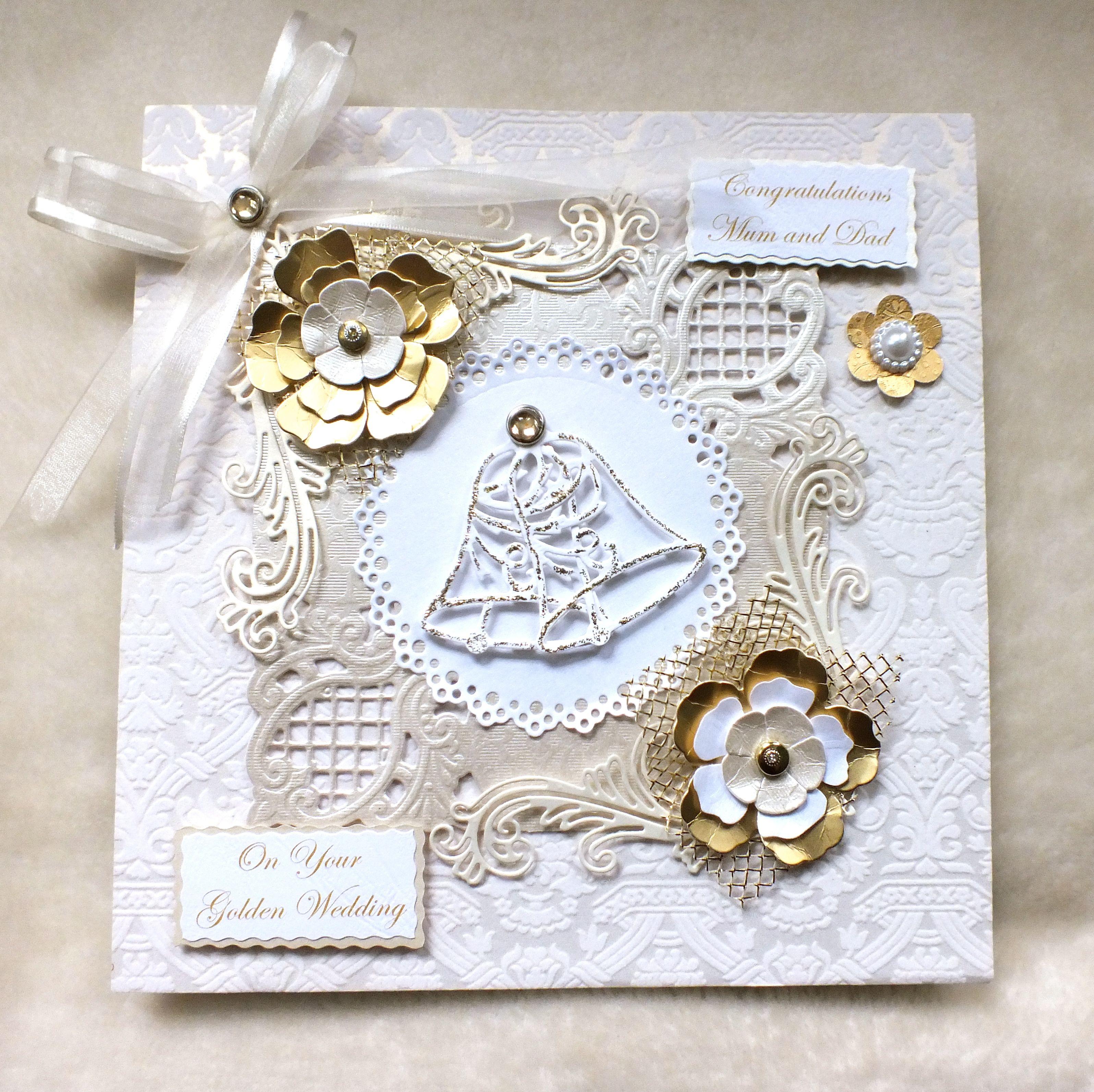 Wedding Card Ideas To Make: Handmade Golden Wedding Anniversary Card By Mandishella