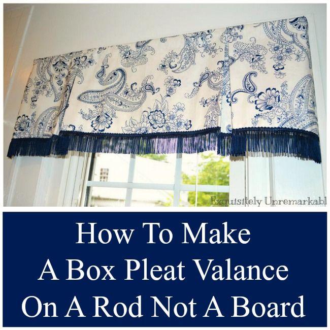 How To Make A Box Pleat Valance | GADEROBE | Pinterest | Gaderobe