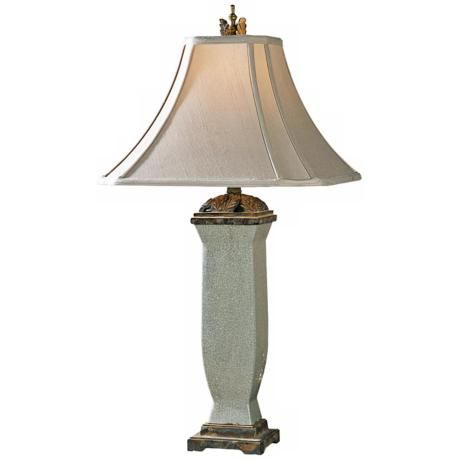 Uttermost Reynosa Mottled Porcelain Table Lamp - #69287 | LampsPlus.com