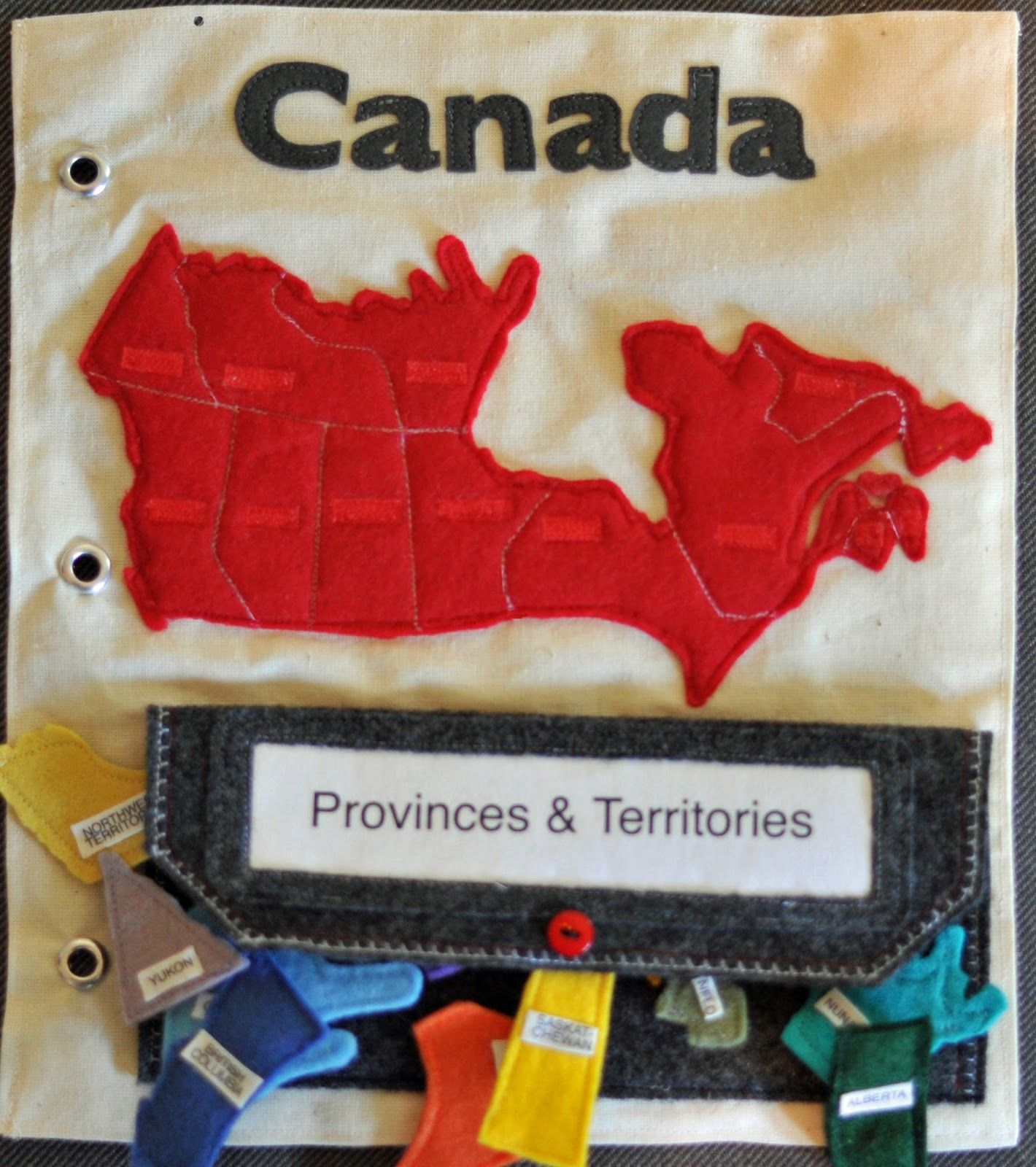 Felt Canada Map Puzzle Provinces And Territories Learning Quiet - Canada map puzzles