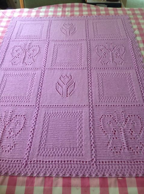 Knitting Pattern For Butterfly And Flower Blanket By Sirdar Ad The