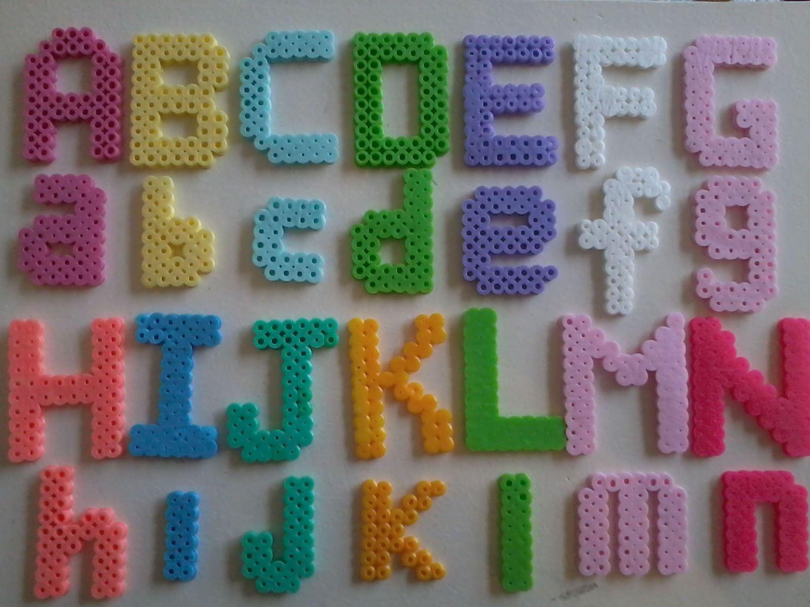 disney princess themed colored alphabet perlar hama