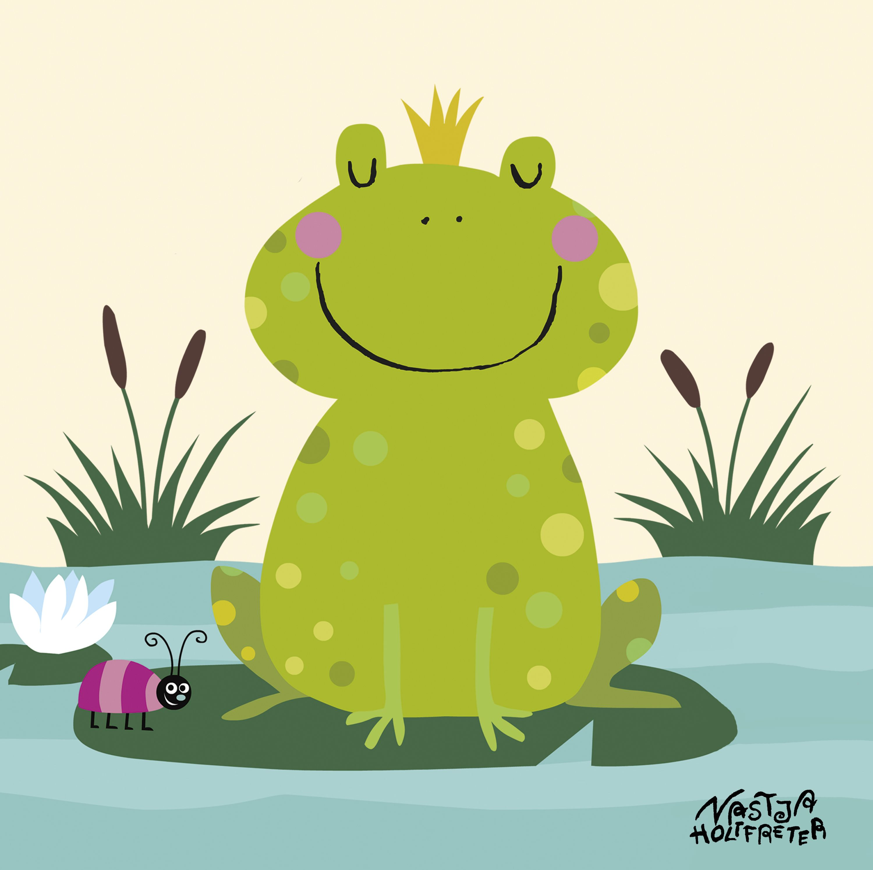 Mein buntes Kinderzimmerbild Prinz Frosch Kartonage E