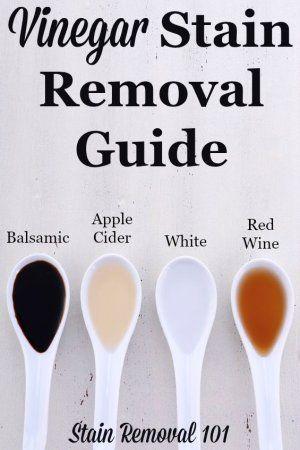 Vinegar Stain Removal Guide For Apple Cider Balsamic