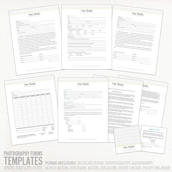 Essential Photography Forms Contract Model Release Print by KAVURE - print release forms