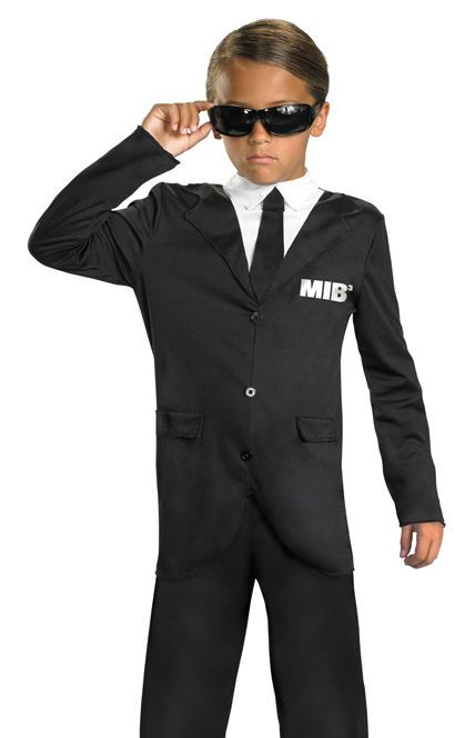 Kids Men In Black 3 Agent J K Licensed Halloween Costume