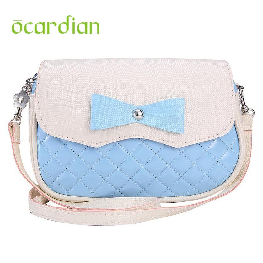Elegance New Hot Bowknot Fashion Crossbody PU Bag 17Mar06