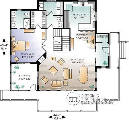Détail du plan de Maison unifamiliale W3914-V1 Plans de maison