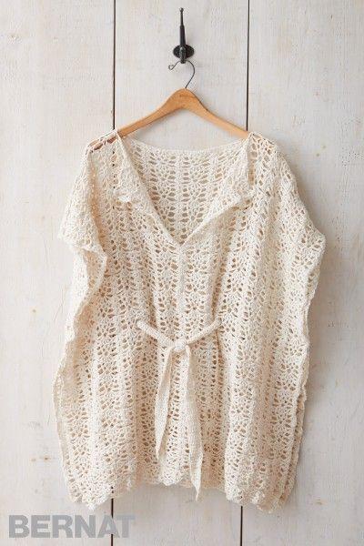 7ff6910437 ... crocheted in Bernat Maker Fashion. Beach Cover-Up - Patterns |  Yarnspirations