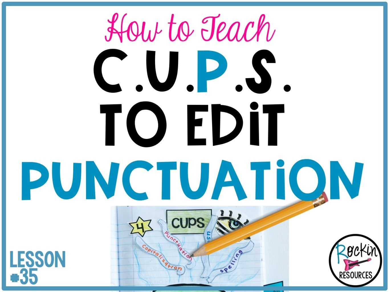 Writing Mini Lesson 35 On Punctuation