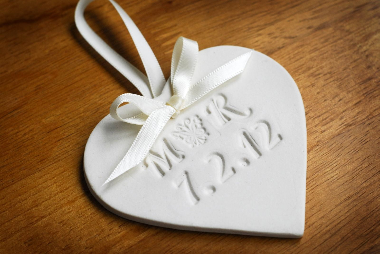 Bespoke Personalized Ceramic Heart Wedding Favours | Future Mrs ...