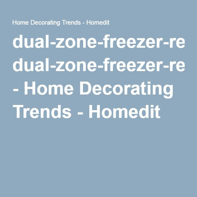 dual-zone-freezer-refrigerator-drawers-undecounter1 - Home Decorating Trends - Homedit