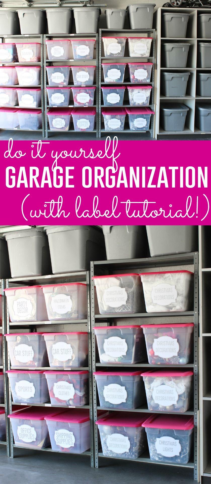 Diy Custom Labels My Garage Organization Progress Garage