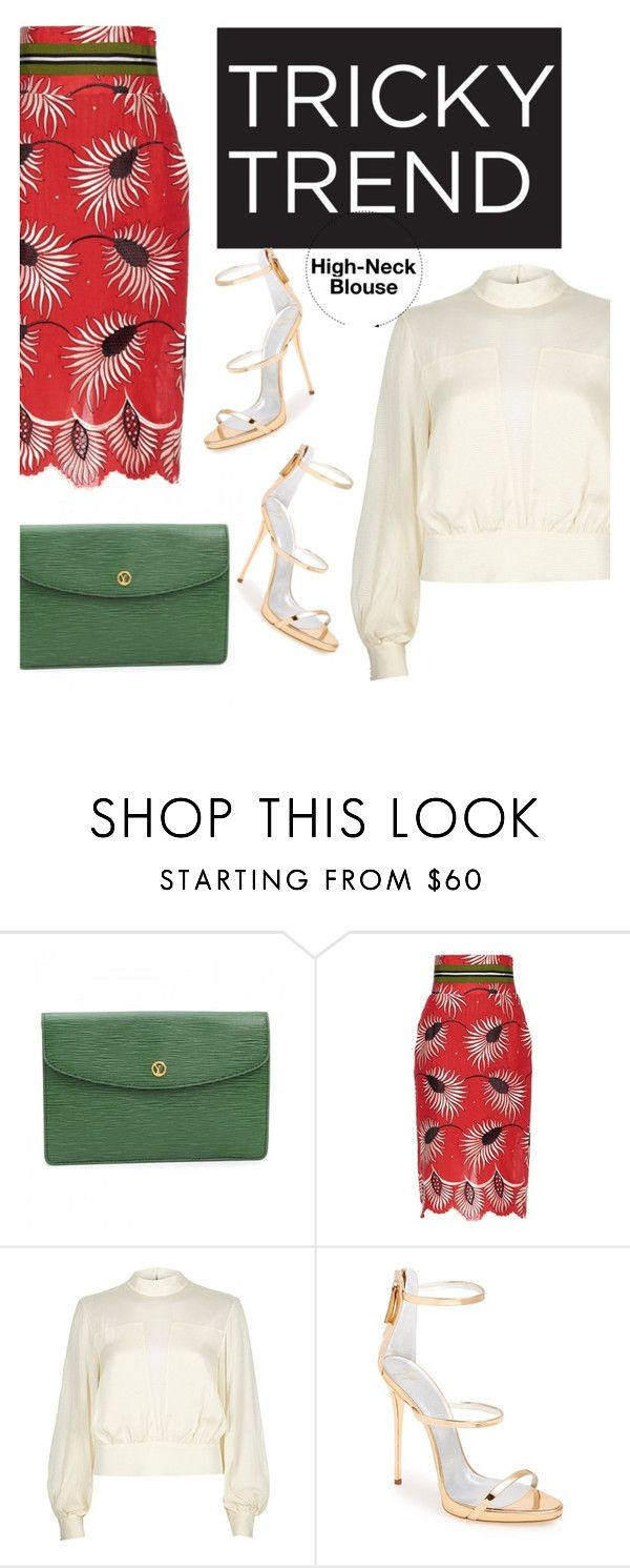 """""""Tricky Tricky"""" by saraishi ❤ liked on Polyvore featuring Louis Vuitton, Stella Jean, River Island, Giuseppe Zanotti, women's clothing, women's fashion, women, female, woman and misses"""