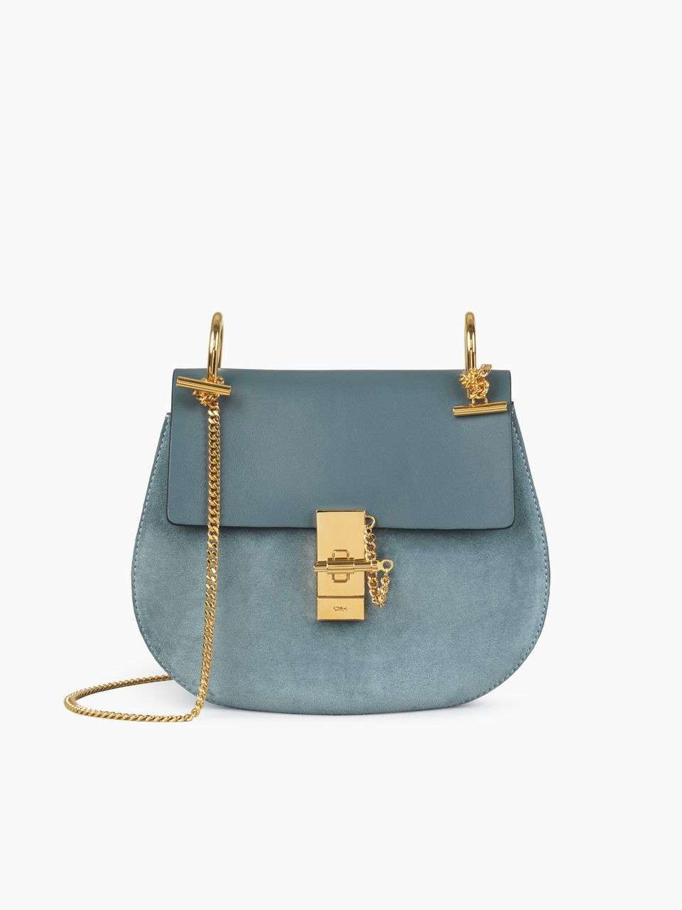 b1f53eb4d3 Chloe Drew Shoulder Bag in cloudy blue and smooth & suede calfskin ...