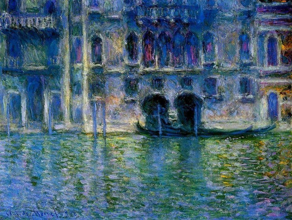 """Claude Monet """"Palazzo da Mula (Venezia)"""" (1908)"""