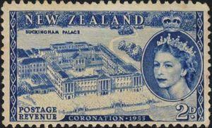 Sello: Coronation (Nueva Zelanda) (Coronation) Mi:NZ 322,Sn:NZ 280,Yt:NZ 318,Sg:NZ 714