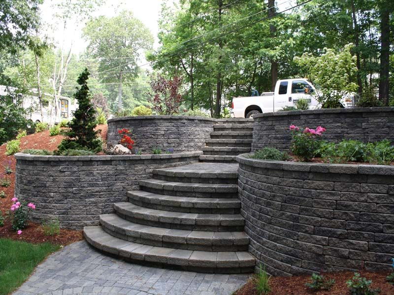 find this pin and more on retaining wall retaining wall design ideas - Landscape Design Retaining Wall Ideas