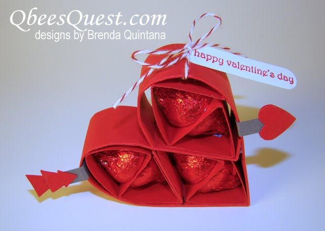 Qbeeu0027s Quest: Hersheyu0027s Kisses Valentineu0027s Heart Tutorial