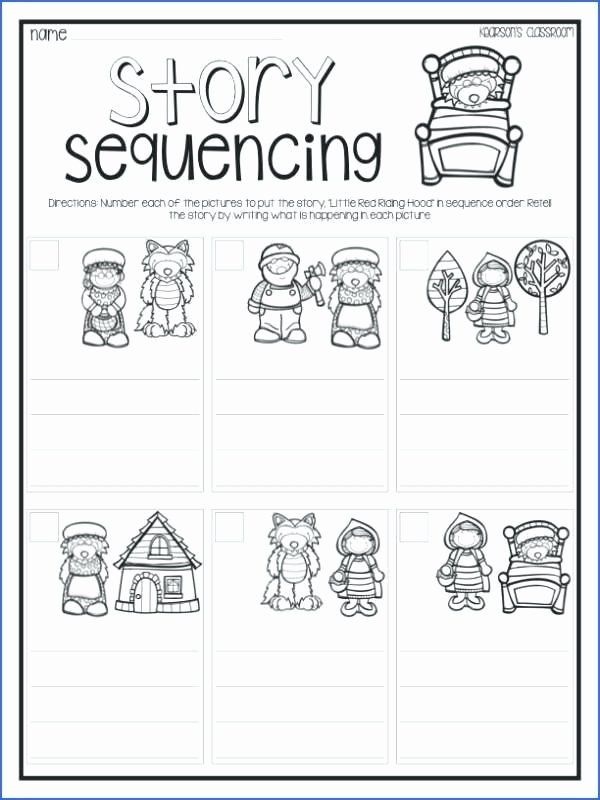 Sequencing Worksheets for Kindergarten Sequence events