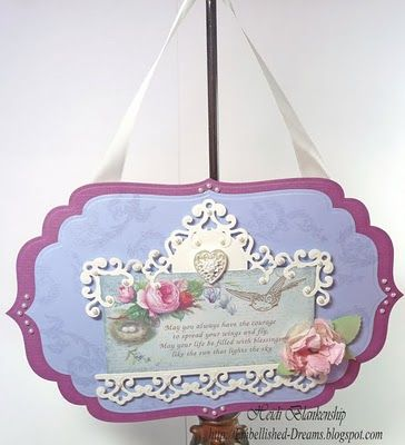 Wall hanging using Spellbinder Parisian Accents dies