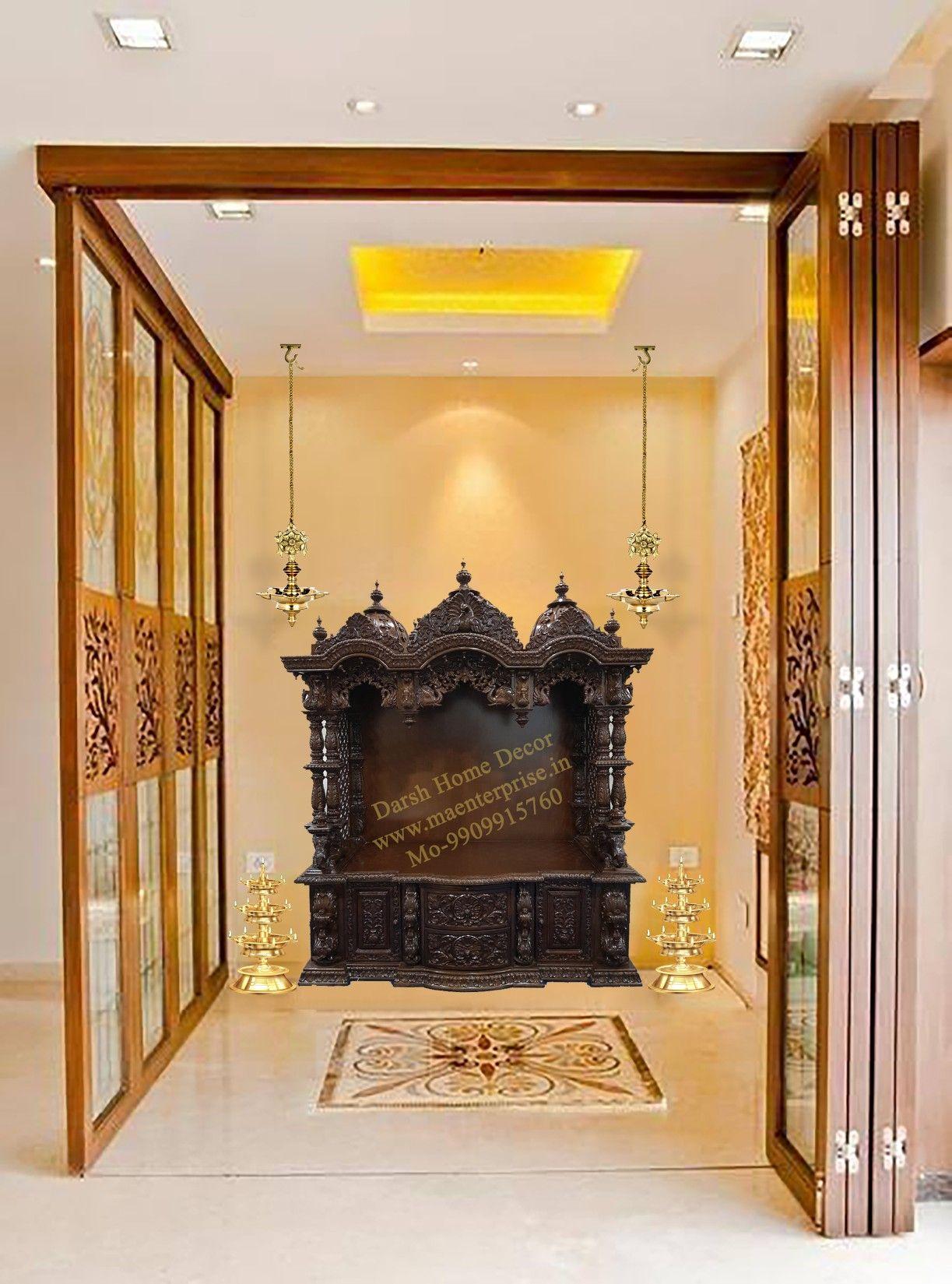 Pooja Mandir For Home Temple In India Usa Australia Ma Enterprise Pooja Room Door Design Pooja Rooms Living Room Design Decor