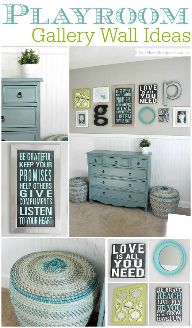 Playroom Gallery Wall {Playroom Update} - Love of Family & Home