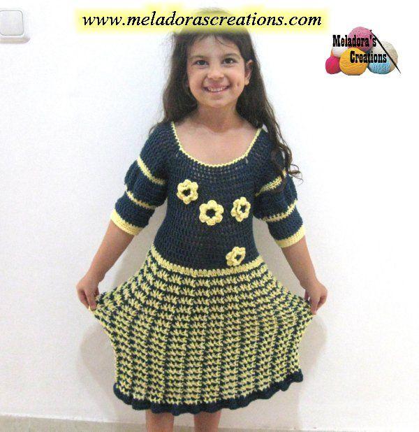 Fleur De Lis Winter Dress – Free Crochet Pattern