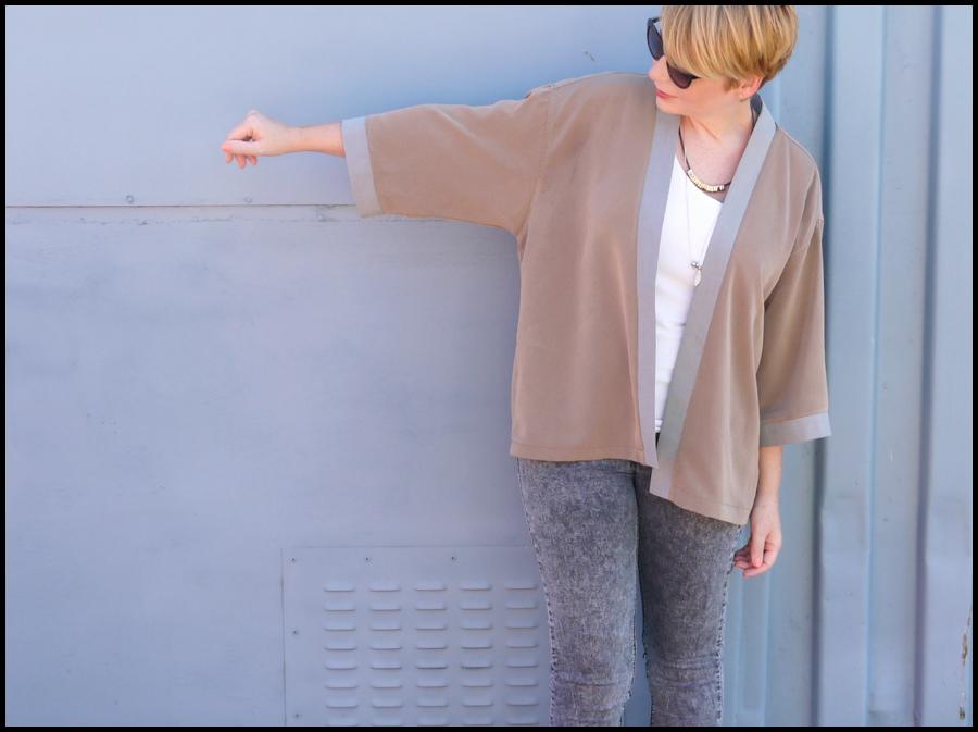 Turn a man\'s oversize shirt into a kimono jacket! DIY tutorial here ...
