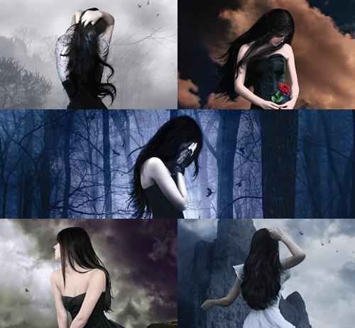 Luce on the covers from the books
