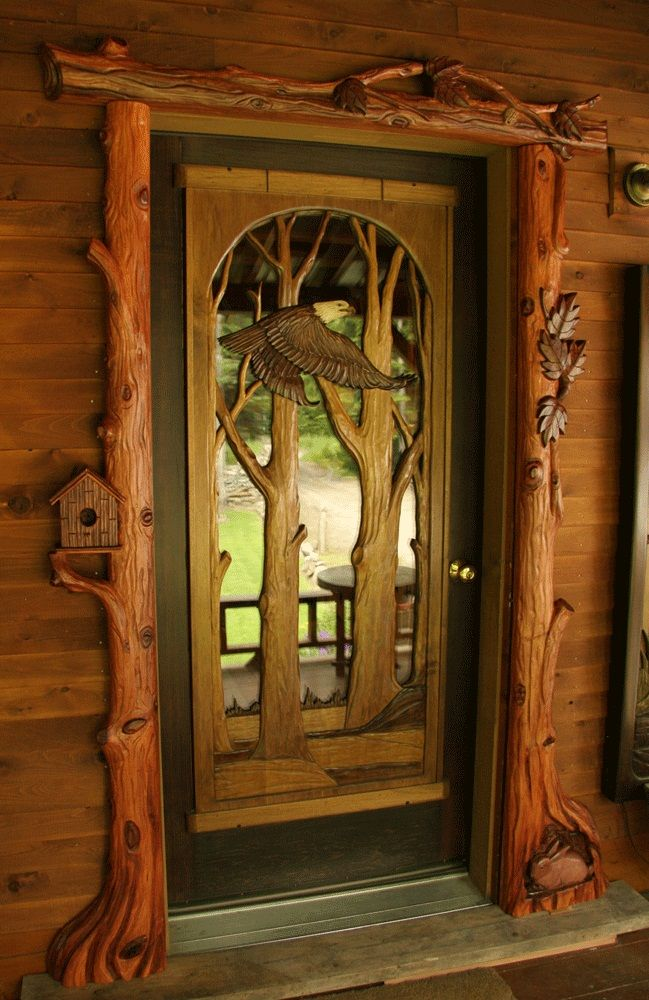 Hand carved door frame on the owner builder network http for Amazing hand carved doors