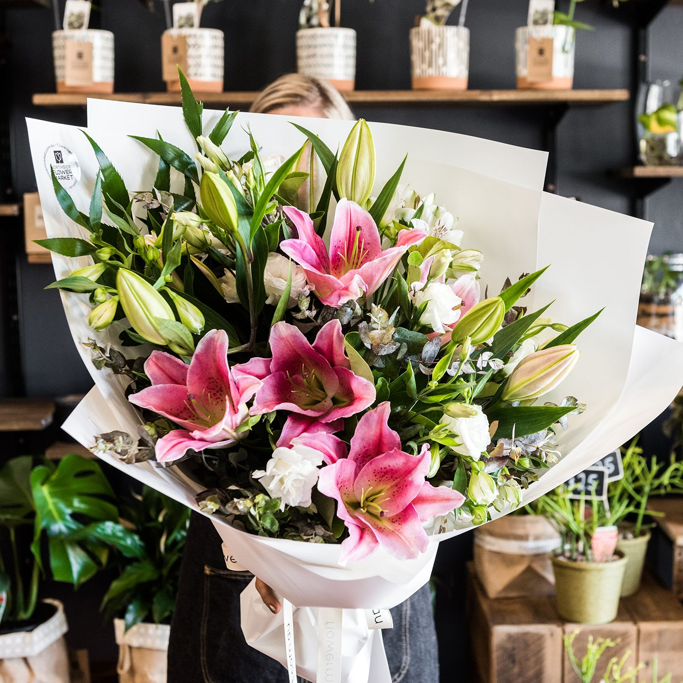 Today's Bouquet of the Day is a fragrant Pink Lily bouquet