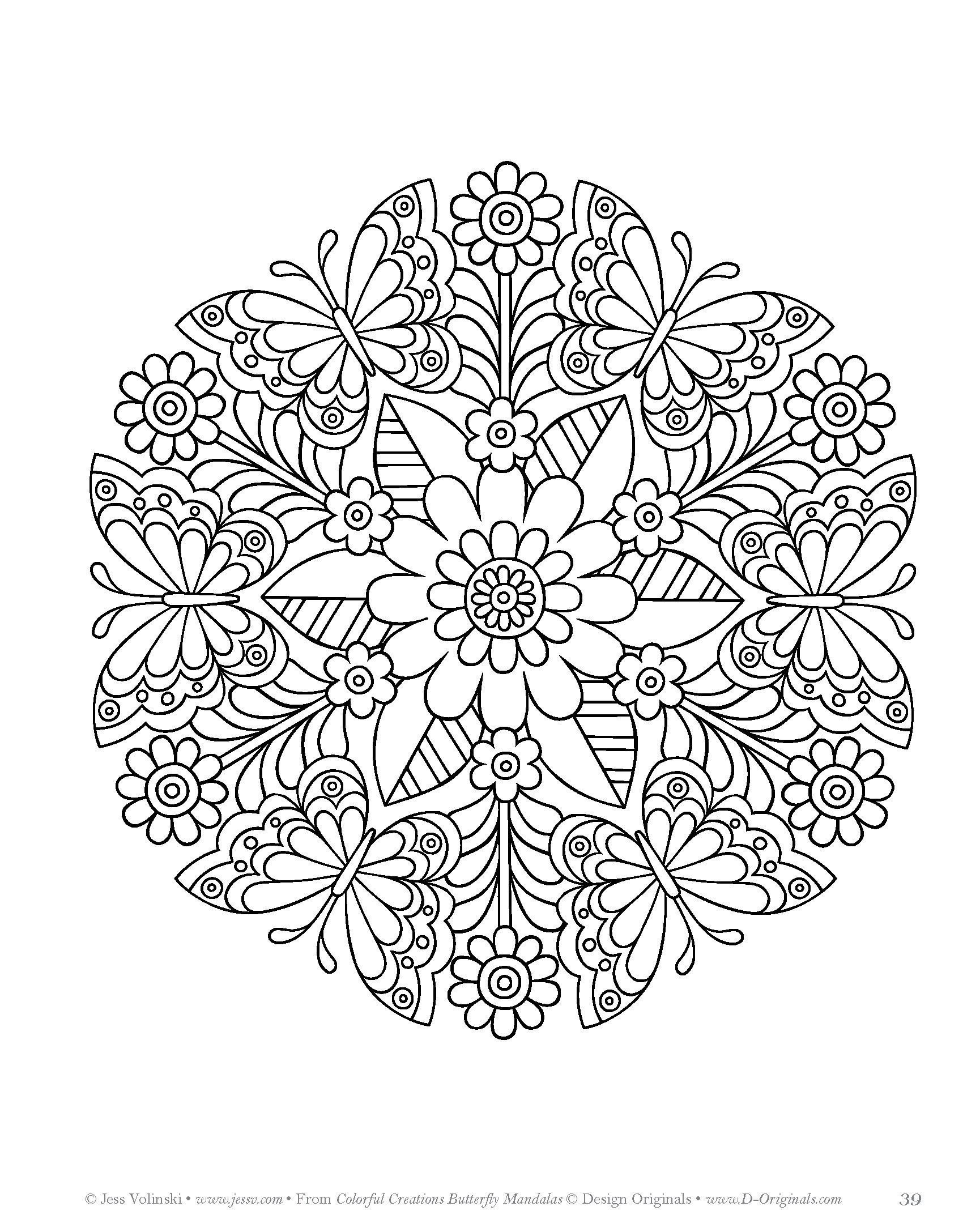 Colorful Creations Butterfly Mandalas Coloring Book Pages Designed To Inspire Creativity Jess Volinski