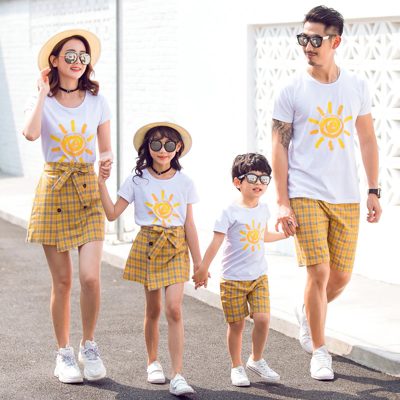 YMH SKU76779b Family Fitted Summer 2019 New Cotton Short
