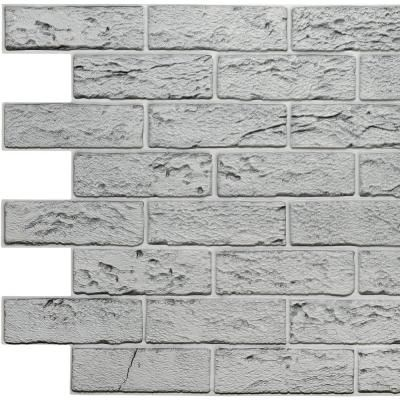 Dundee Deco 3d Falkirk Retro Ii 39 In X 23 In Grey Faux Bricks Pvc Wall Panel 5 Pack Gr Hd Tp10020081 5 The Home Depot Faux Brick Pvc Wall Panels Pvc Wall