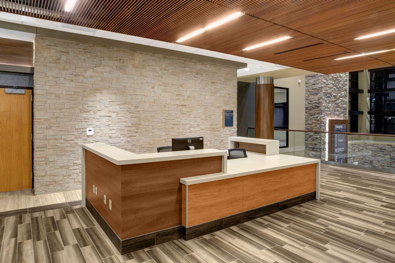 Saint Anthony S North Hospital Wood Paneling Wood Ceiling
