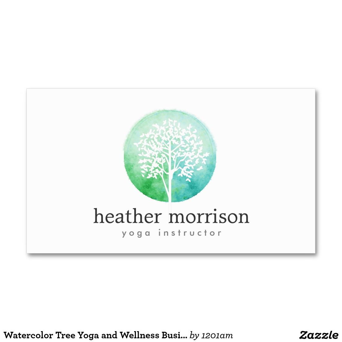 Watercolor tree yoga and wellness business card business cards watercolor tree yoga and wellness business card magicingreecefo Choice Image
